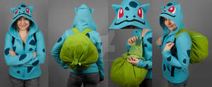 Bulbasaur Hoodie with Bulb Backpack