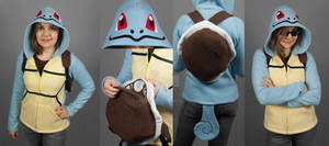 Squirtle Hoodie with Shell Backpack