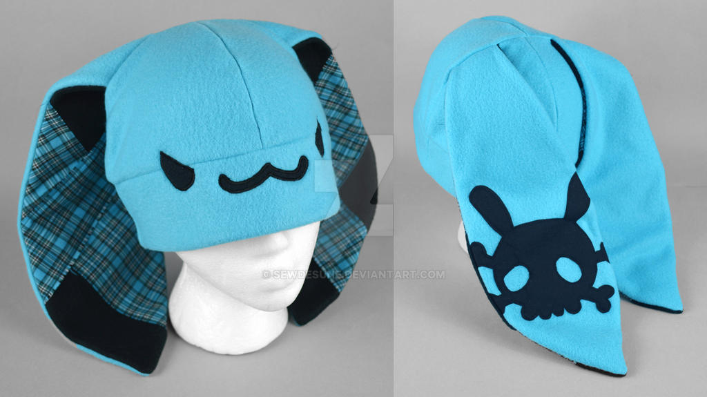 Mini Blue Punk Bunny Hat by SewDesuNe