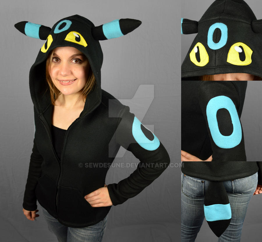 Shiny Umbreon Hoodie by SewDesuNe