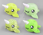 Green Narwhal Plush Collection