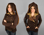 Steampunk Military Hoodie with Rabbit Ears