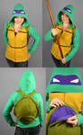 TMNT Donnie Hoodie with Shell Backpack