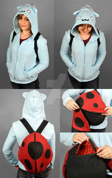 Catbug Hoodie with Ladybug Backpack