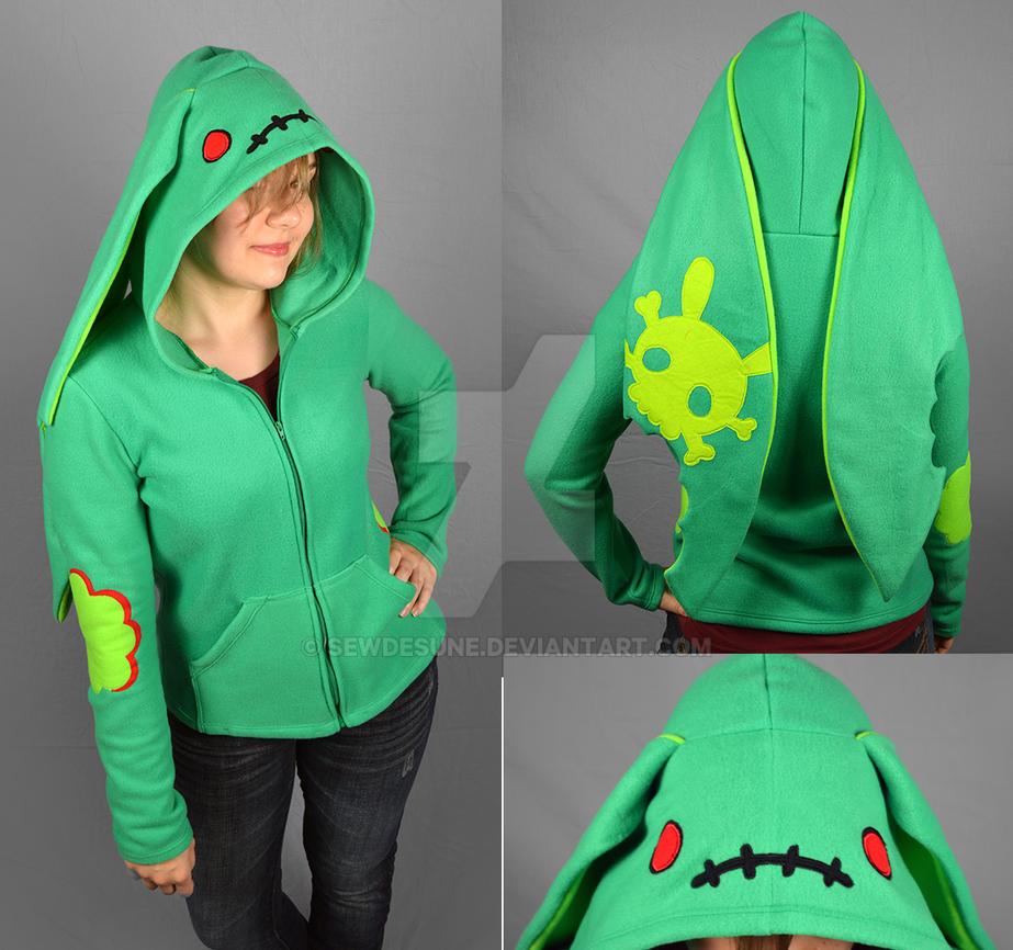 Infected Zombunny Hoodie by SewDesuNe