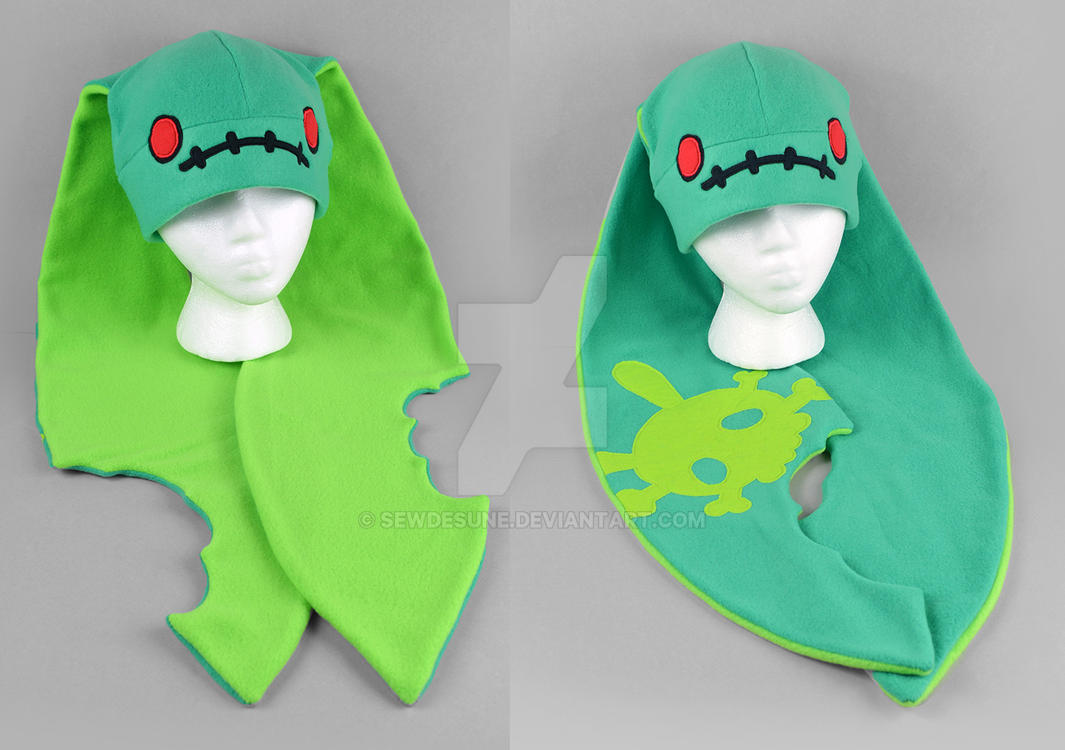 Infected Zombunny Hat by SewDesuNe