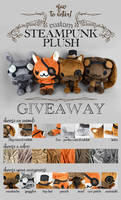 Steampunk Plush Raffle! [Closed] by SewDesuNe