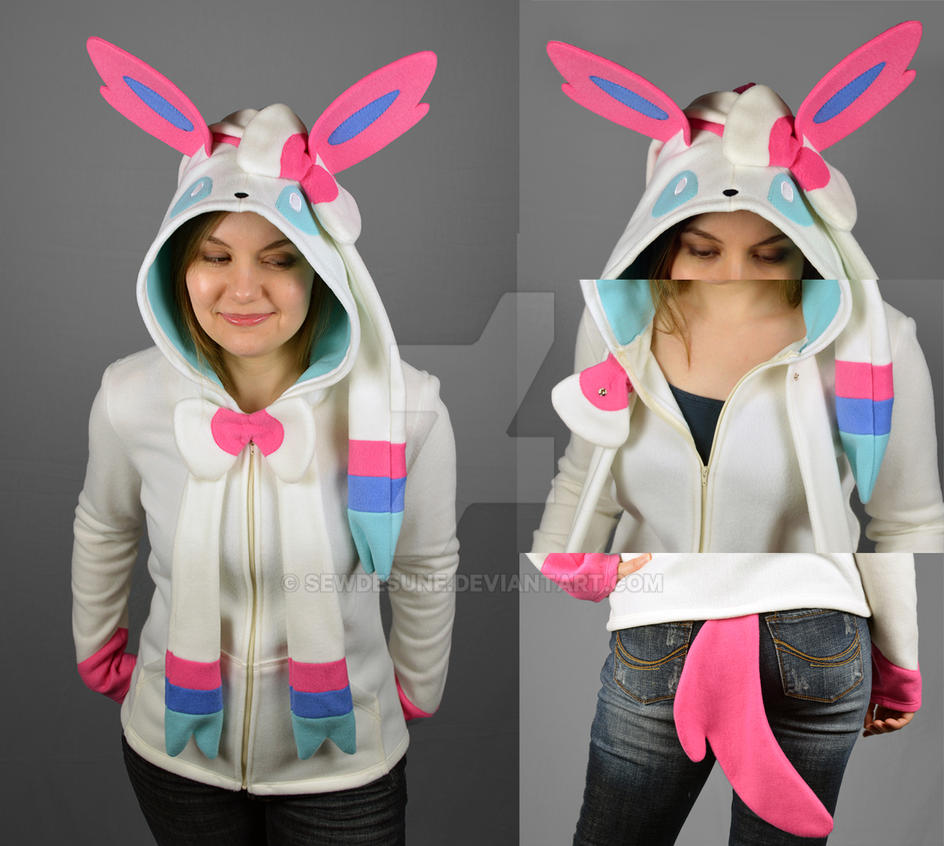 sylveon hoodie by sewdesune on deviantart