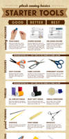 Plush Sewing Starter Tools Infographic