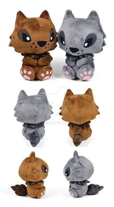Werewolf Plushies by SewDesuNe