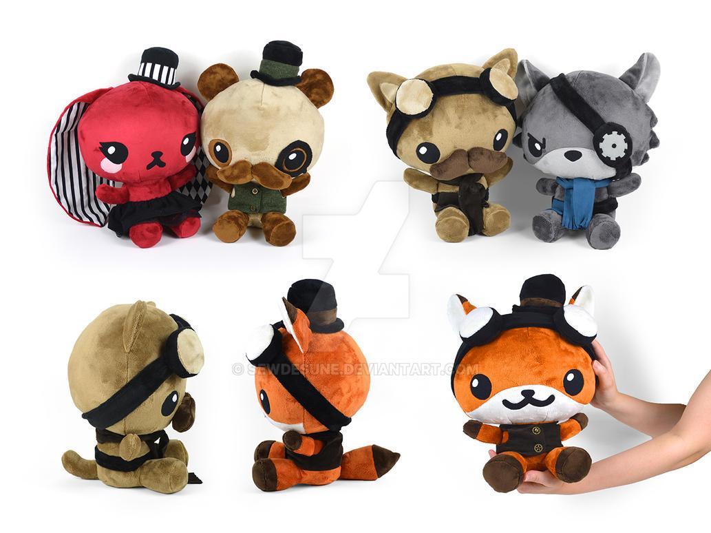 Steampunk Chibi Plushies by SewDesuNe