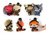 Steampunk Chibi Plushies