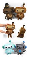 Steampunk Robot Plushies