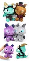 Chibi Steampunk Dragon Plushies