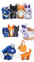 Celestial Fox and Hare Plushies