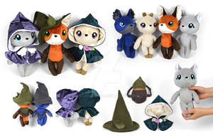 Woodland Witches Anthro Doll Plushies