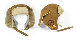 Rabbit Aviator Cap with Gear Embroidery