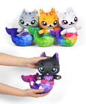 Mer-kitty Plushies from Spoonflower
