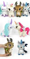 Fawn and Unicorn Plushies