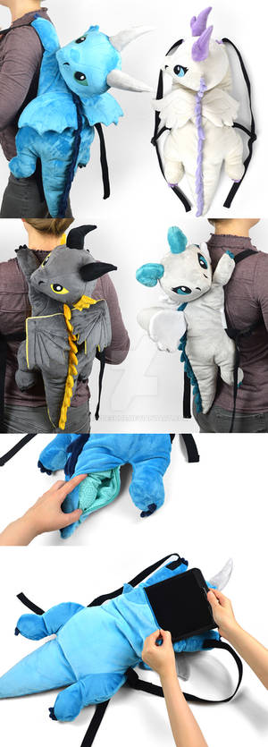 Plush Dragon Backpacks