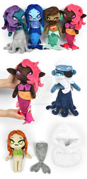 Merpeople Chibi Plush Dolls