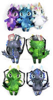 Chibi Dragon Backpacks