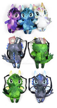 Chibi Dragon Backpacks