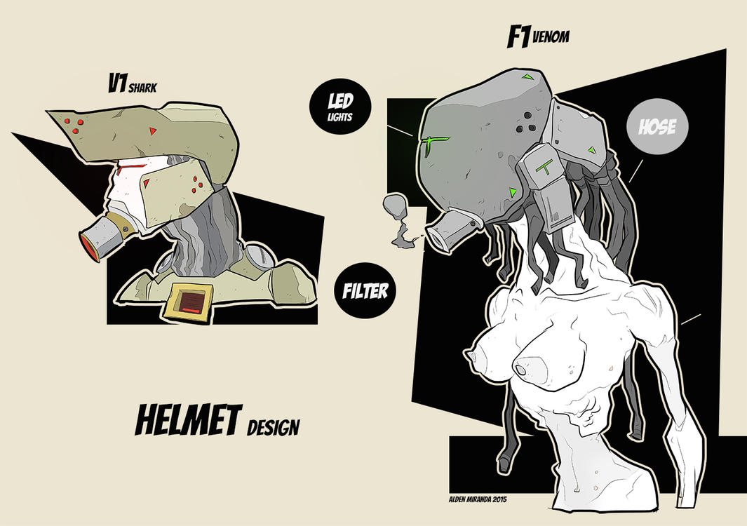 Helmet design by AldenMiranda