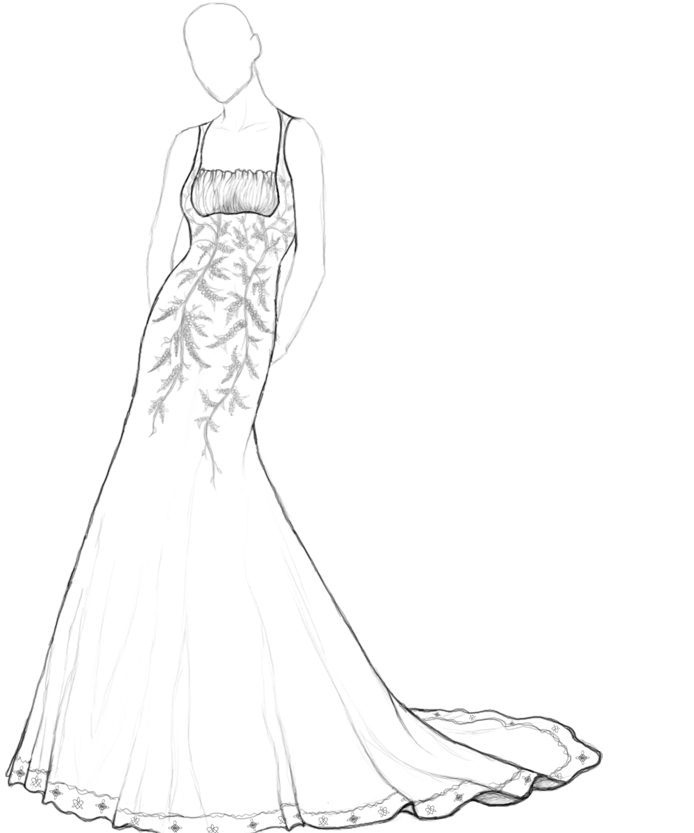 dress templates coloring pages - photo#17