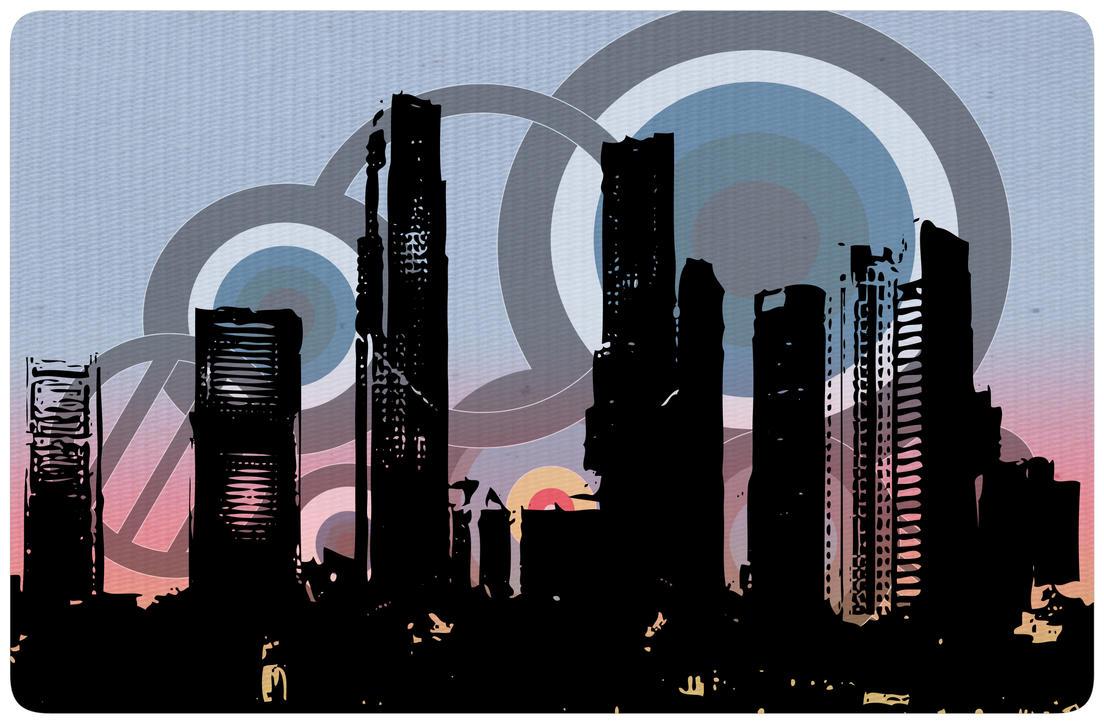Retro City Sunset by SoulBeatz