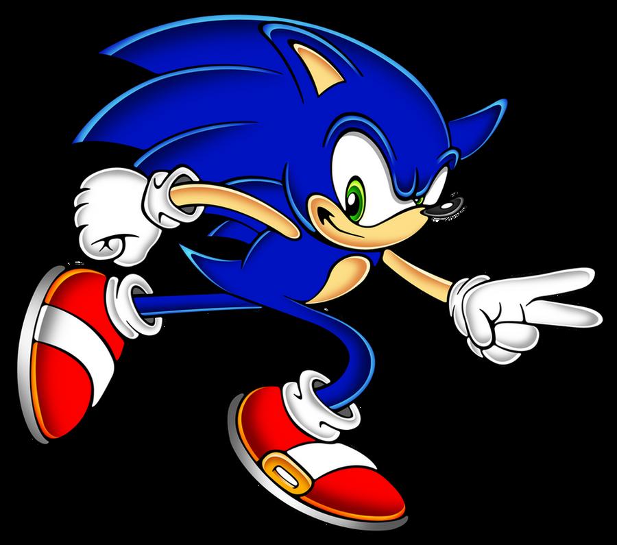 Sonic run sa style by megax88