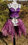 Purple organza overskirt