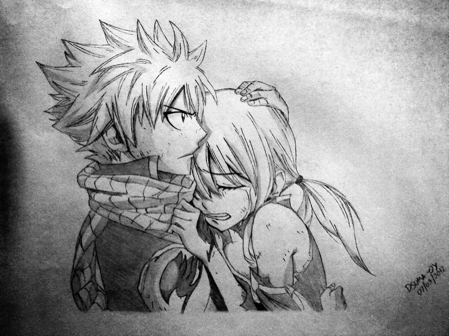 Fairy tail natsu and lucy by djsumaoy14 on deviantart - Lucy fairy tail drawing ...