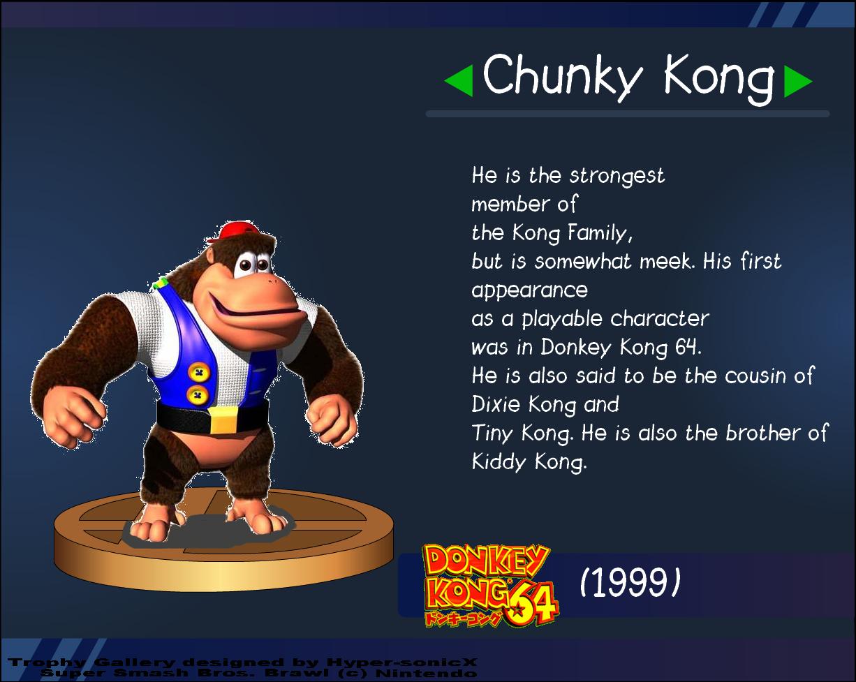 Ssb Supreme Chunky Kong Trophy By Ikamusumefan06 On Deviantart