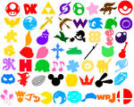 Super Smash Bros Supreme: All Early Fighter Icons
