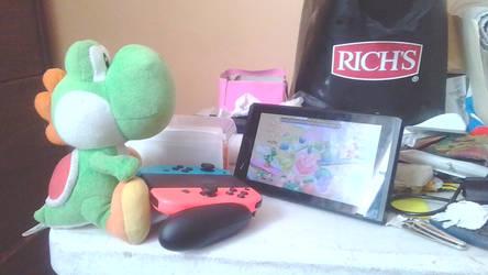 Yoshi is playing Super Smash Bros Ultimate by IkaMusumeFan06
