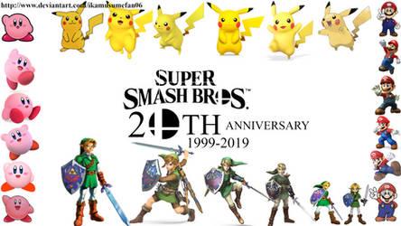 Super Smash Bros 20th Anniversary Wallpaper by IkaMusumeFan06