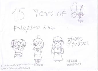 Fate Series 15th Anniversary by IkaMusumeFan06