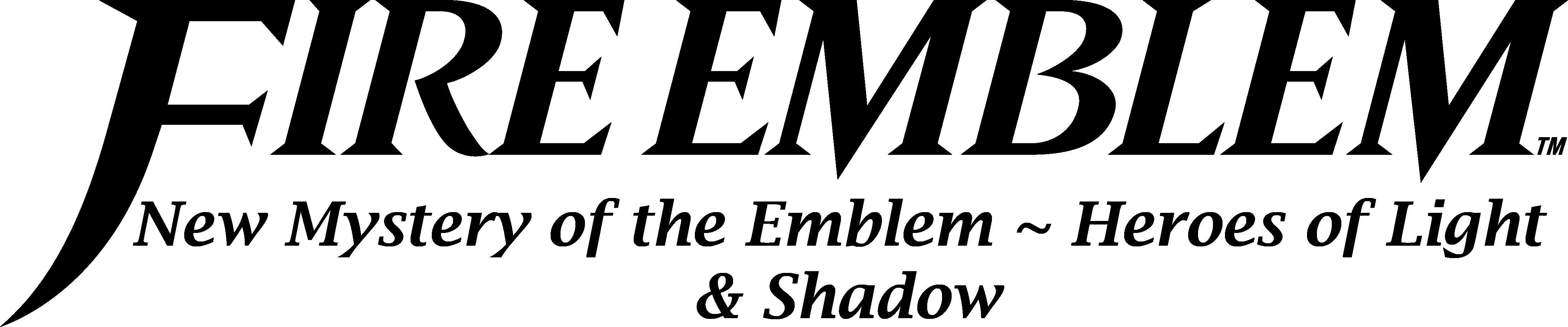 Fire Emblem New Mystery Of The Emblem English Logo By Ikamusumefan06 On Deviantart
