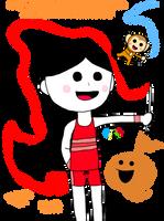 Gymnastics Tap Girl and Monkey by IkaMusumeFan06