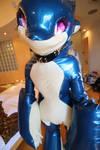 Rubber dragon suit