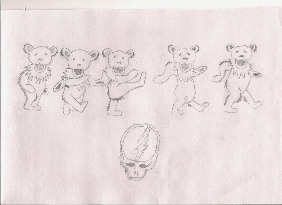 Grateful Dead dancin' bears by The1980sKunoichi