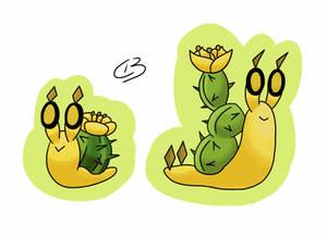 Cactusnail and Slactus, Desert Snail Fakemon