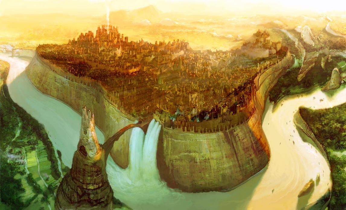 Asheran in the dawn by Fyreant