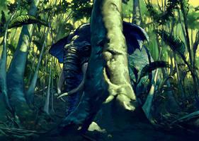 Sneaky Elephant by Fyreant
