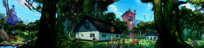 Miyazaki mythique by Fyreant