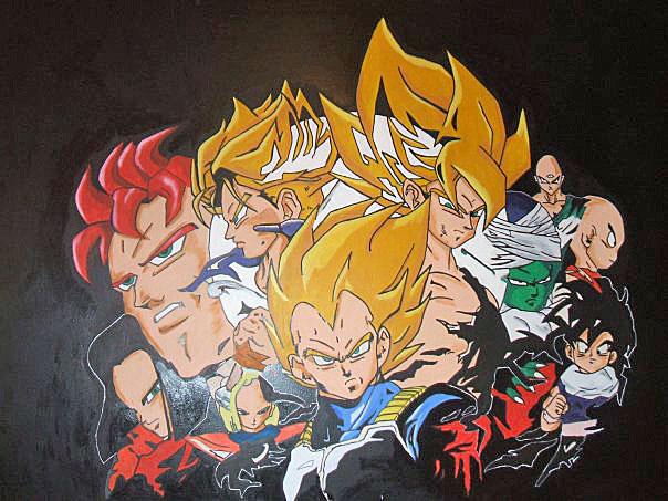 Dragon ball z wall mural by macklinsmurals on deviantart for Dragon ball z mural