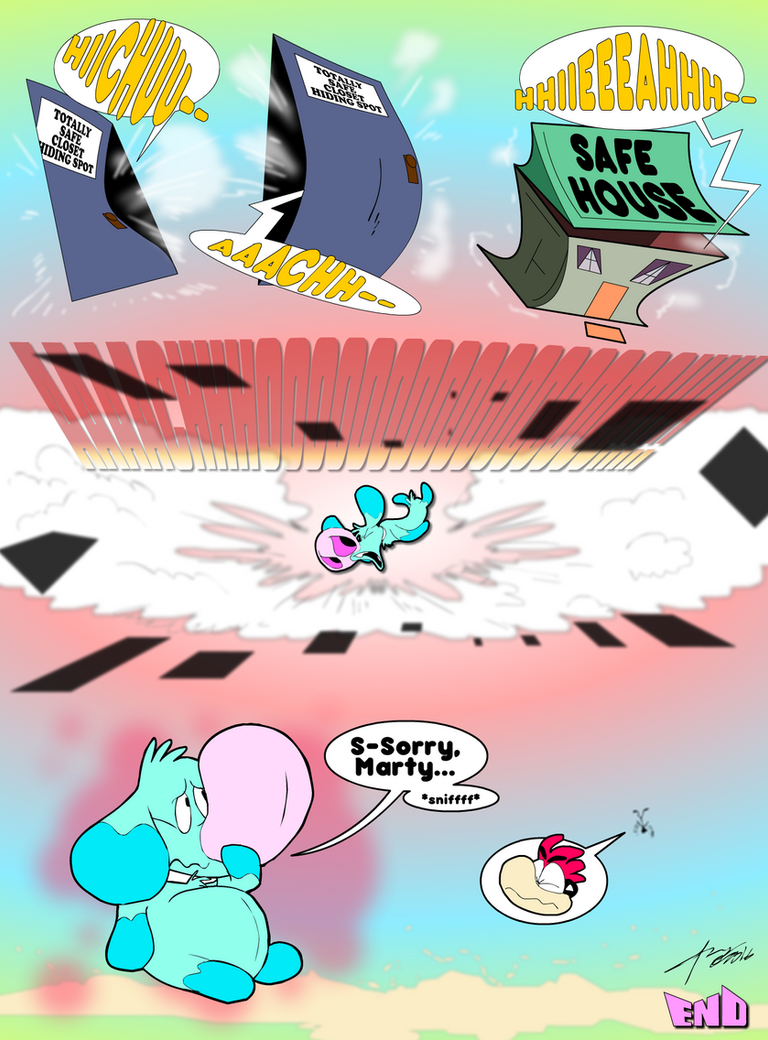 Snoofie and Marty in Dust Closets, p3 by KUWTComicsInc