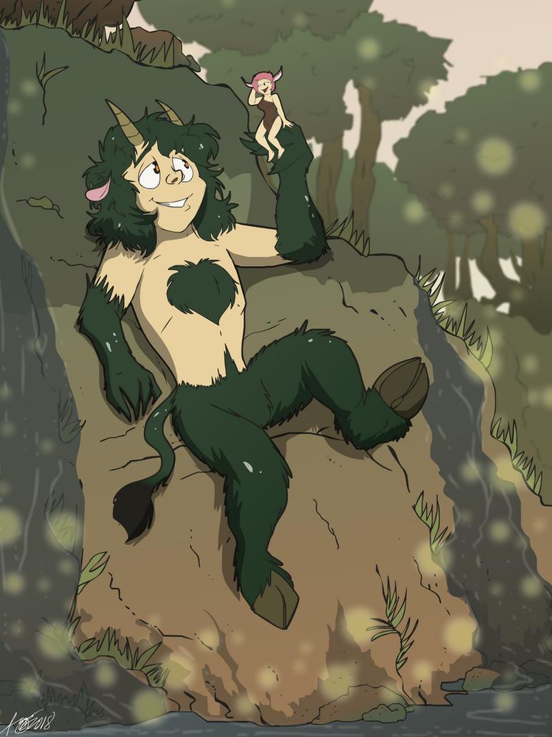 Art Trade: Gentle Giant, Elegant Elf by Ari-Dynamic