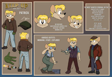 Patrick, the Thursday Thief, Model Sheet